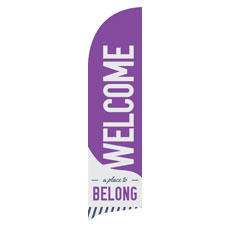 To Belong Purple Banner