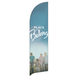 BTCS People Belong Logo Flag Banner