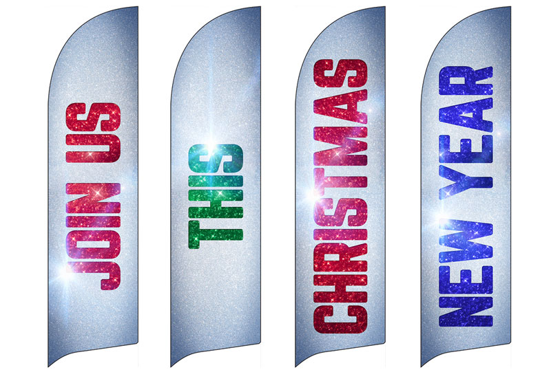christmas new year set banner church banners outreach marketing