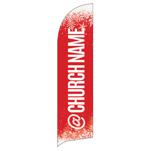 Red and Snow Church Name Banners