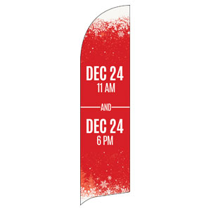 Red and Snow Service Info Banners