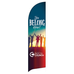 BTCS You Belong Here Flag Banner