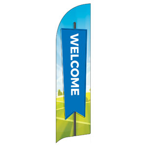 Bright Meadow Welcome Flag Banner