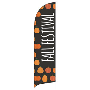 Pumpkins Hand Drawn Fall Festival Flag Banner