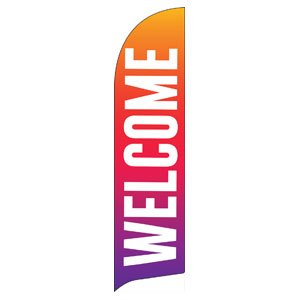 Welcome Bold Abstract Flag Banner