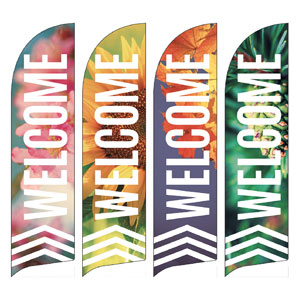 Chevron Welcome Season Set Flag Banner