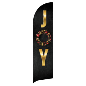 Gold Joy Wreath Flag Banner