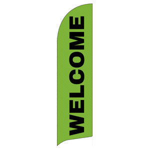 Grand Opening Invite Green Flag Banner
