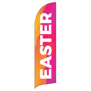 Easter Event Date Flag Banner