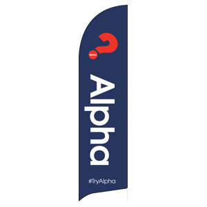 Alpha Navy Flag Banner