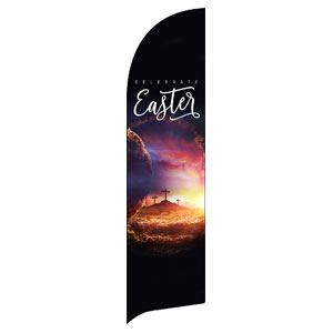 Dramatic Tomb Easter Flag Banner