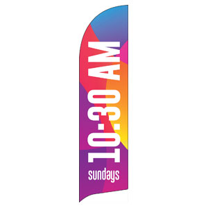 Curved Colors 1030 AM Flag Banner