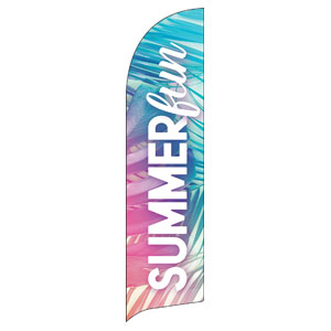 Summer Fun Pastel Flag Banner