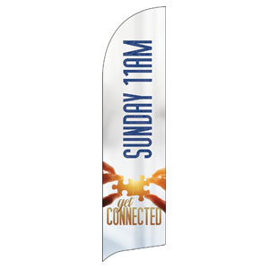 Connected 11 AM Flag Banner