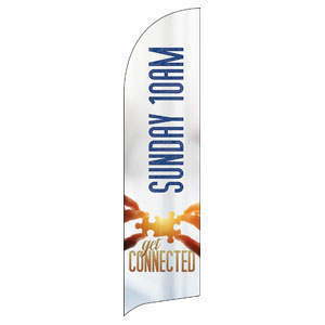 Connected 10 AM Flag Banner