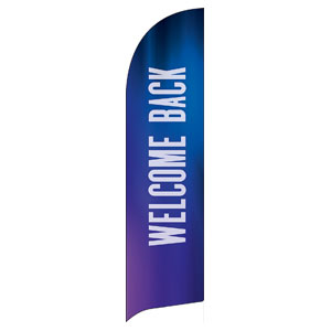 Aurora Lights Welcome Back Flag Banner