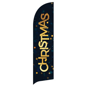 Christmas At Bokeh Flag Banner