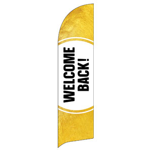 Gold Dot Welcome Back Flag Banner