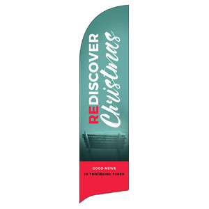 ReDiscover Christmas Advent Manger Flag Banner