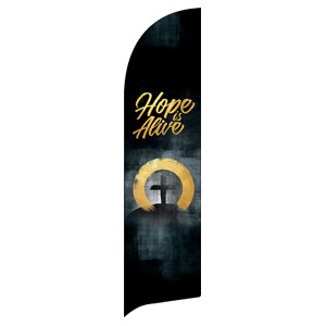 Hope Is Alive Gold Flag Banner