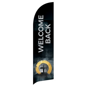 Hope Is Alive Gold Welcome Back Flag Banner