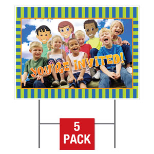 Children's Invited Yard Signs - Stock 1-sided
