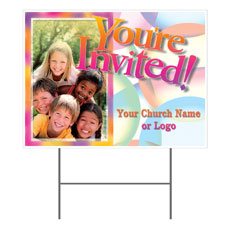Kids Pyramid Yard Sign