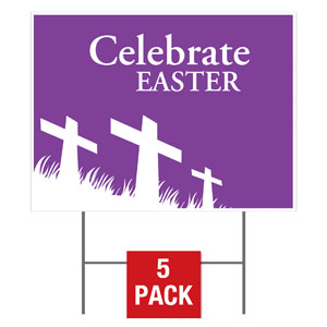 Easter Purple Flag Yard Signs