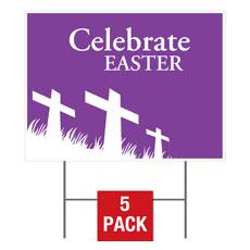 Easter Purple Flag Yard Sign