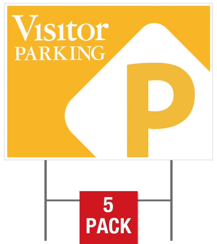 Visitor Parking Flag Yard Sign - Church Banners - Outreach Marketing
