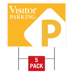 Visitor Parking Yard Signs - Stock 1-sided