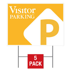 Visitor Parking Flag Yard Sign