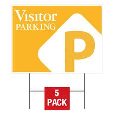 Visitor Parking Flag Yard Sign