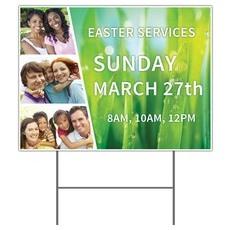Easter Together Yard Sign