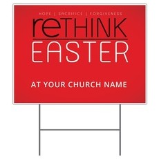 Rethink Easter Yard Sign