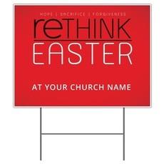 Rethink Easter Yard Sign