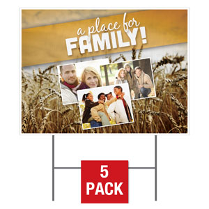 A Place for Family Fall Yard Signs - Stock 1-sided
