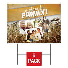 A Place for Family Fall Yard Sign