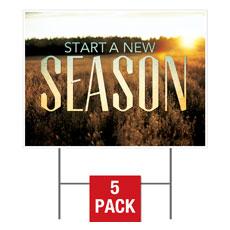 New Season Fall Yard Sign