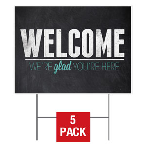Slate Welcome Yard Signs - Stock 1-sided