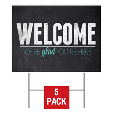 Slate Welcome Yard Sign