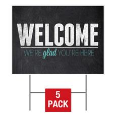 Slate Welcome Yard Sign