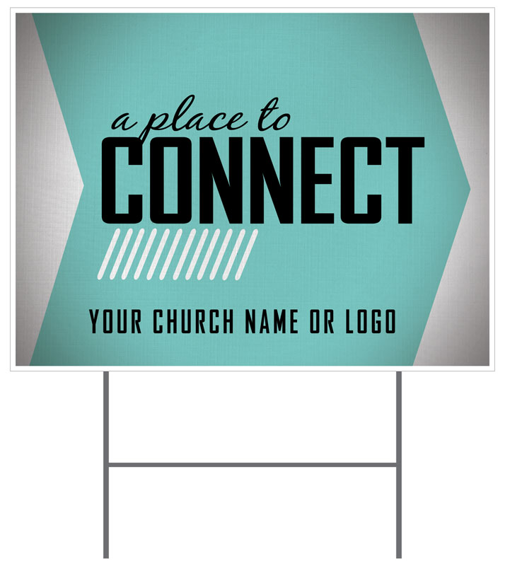 Place To Connect Welcome Yard Sign Church Banners