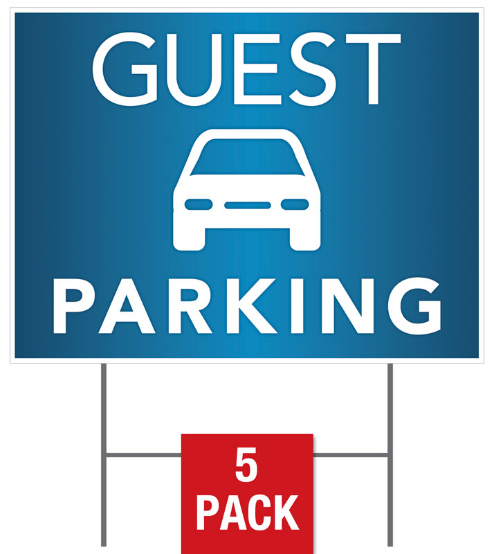 guest parking yard sign - church banners