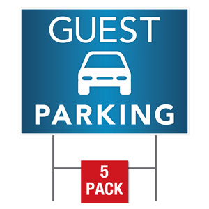 Guest Parking Yard Signs - Stock 1-sided