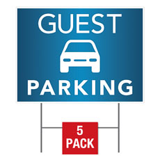 Guest Parking Yard Sign