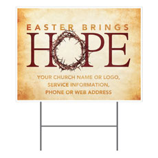 Hope Crown Yard Sign