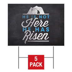 Easter Risen Yard Sign