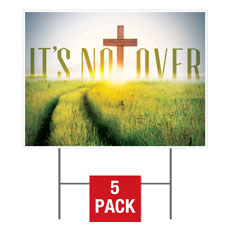 Easter Not Over Yard Sign