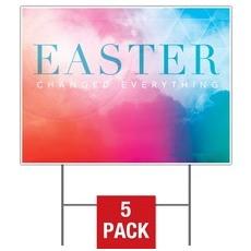 Easter Color Yard Sign